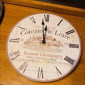 Coteaux de Loire 1956 wall clock